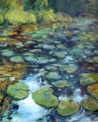 Am Teich, Öl/L