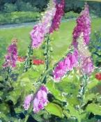 In Noldes Garten 3, Öl auf Leinwand