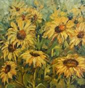 Sonnenblumen I, Öl auf Leinwand