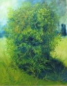 Grünes Geheimnis, Öl auf Leinwand