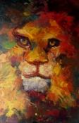 Löwe, Öl auf Leinwand