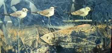 Seltsame Vögel, Öl auf Leinwand