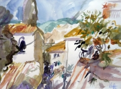 Montecatini, Aquarell