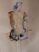 Rückenakt 4, Aquarell auf Papier