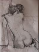 Rückenakt 5, Bleistift auf Papier